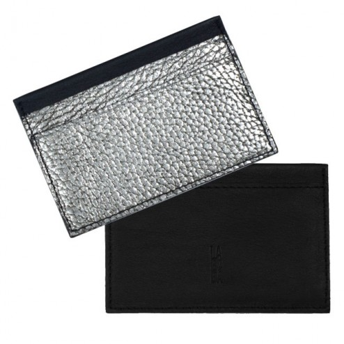 CASE FOR CREDIT CARDS BLACK-SILVER