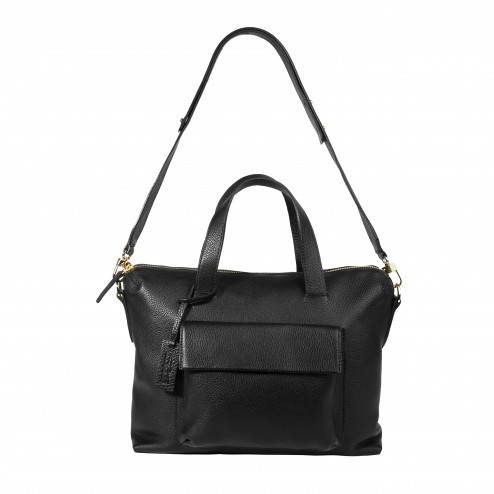 BOLERO BAG BLACK GOLDEN ZIPPER