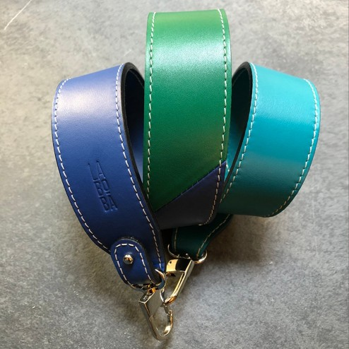 STRAP FOR BAG TRICOLOR NAVY BLUE/ TURQUOISE