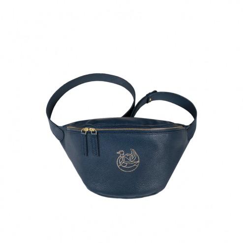 tokyo hip-bag navy blue gold