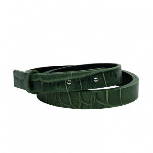 BELT CROCODILE OLIVE
